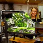 Upholstery course student at Hamilton & Hodson workshop