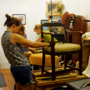 Upholstery workshop at Hamilton & Hodson